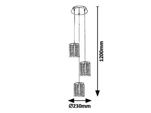 RABALUX - ПЕНДЕЛ 5044 ASTRELLA  LED 18W, 1350lm, 4000K