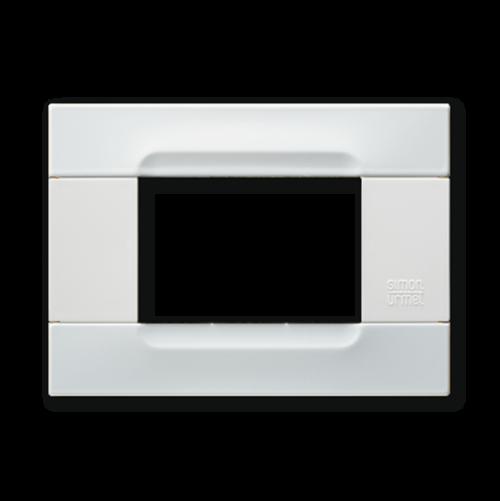 SIMON URMET - 10903.B.50 White Vega Polychrome Metal Kadra тримодулна рамка