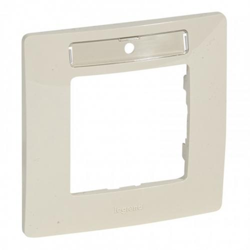 LEGRAND - 6 650 16 Plate Niloé - 1-gang - with label-holder - ivory