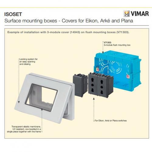 VIMAR - 14944.01 - Plana рамка влагозащитена IP55 4M бял