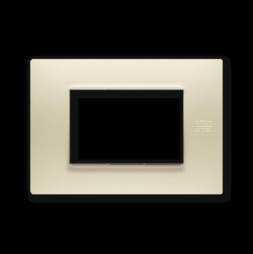 SIMON URMET - 13003.AV Ivory Technopolymer Flexa тримодулна рамка
