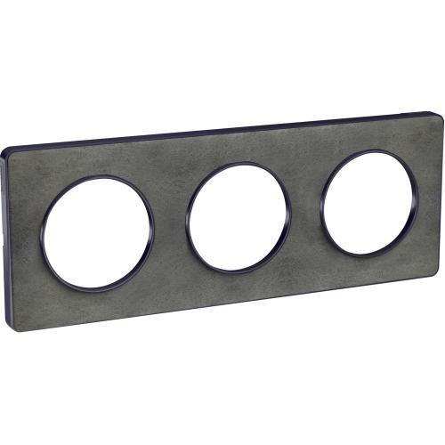 SCHNEIDER ELECTRIC - S540806V Odace Touch aluminium декоративна рамка тройна камък с външен кант в цвят антрацит