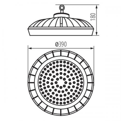 KANLUX - Индустриално осветително тяло HB PRO LED HI 200W-NW IP65 200W 28000lm 4000K 27157