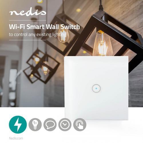 NEDIS - Wi-Fi Smart ключ за осветление WIFIWS10WT, NEDIS