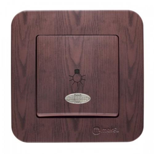 MAKEL - Ключ стълбищен със светлинен индикатор Lilium Natural  56024