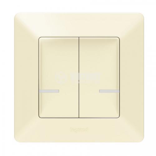 LEGRAND - Свързан сериен ключ безжичен Netatmo 752287 Valena Life крем