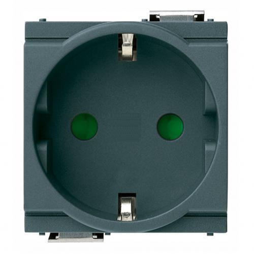 VIMAR - 17038 - 2P+E 16A контакт немски стандарт сив IDEA