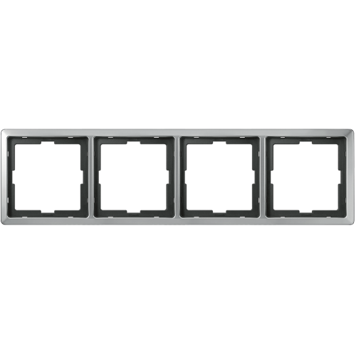 SCHNEIDER ELECTRIC - MTN481446 рамка четворна неръждаема стомана Artec Merten