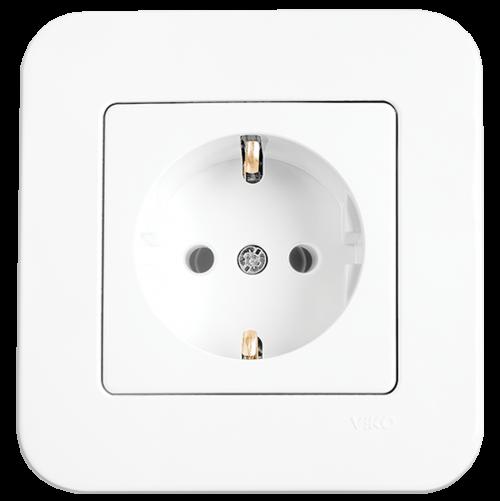 VIKO - Socket 2P+E 90420008 white Rollina