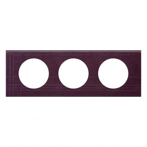 LEGRAND - Тройна рамка Celiane 69443 кожа лила