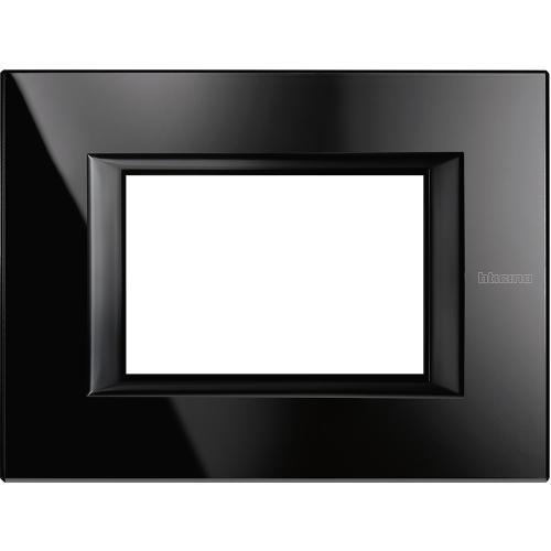 BTICINO - HA4803VNB Рамка 3М Nighter стъкло правоъгълна Axolute