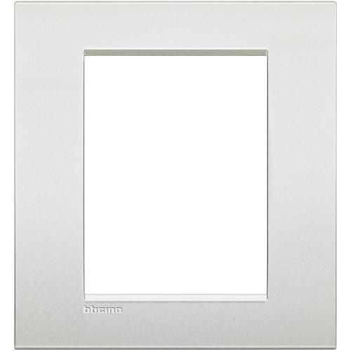 BTICINO - LNC4826PR Рамка 3+3 модула Pearl white метална Livinglight AIR