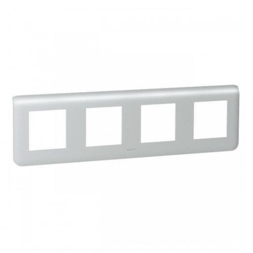 LEGRAND - 79308 Осеммодулна рамка 4х2 Mosaic алуминий