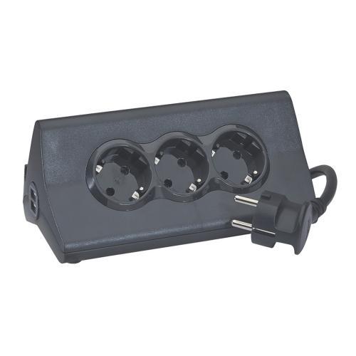 LEGRAND - 694811 Разклонител 3 x 2P+E и 2 x USB с кабел 1,5 m и защита от пренапрежение