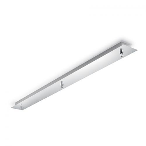 IDEAL LUX - Розетка за таван  ROSONE METALLO 3 LUCE Cromo 122861