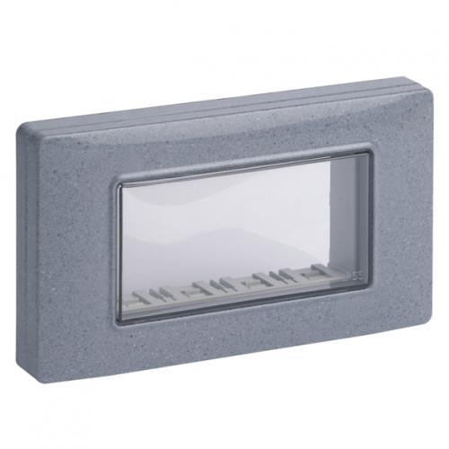 VIMAR - 14944.14 - IP55 cover 4M +screws granite grey
