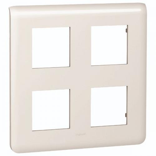 LEGRAND - 78838 Лицева рамка 2 реда 2х2 мод. НЕМСКИ СТАНДАРТ цвят бял Mosaic
