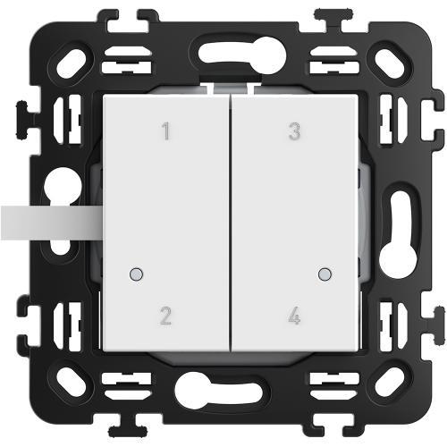 BTICINO - RW4575CW Сценариен ключ Smart 4 сцени БЕЗжичен с 2 мод. носеща рамка цвят Бял Classia Bticino с Netatmo