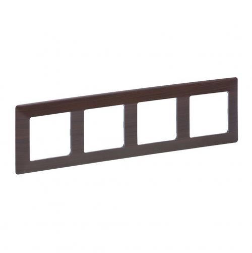 LEGRAND - 7 541 74 Plate Valena Life - 4 gang - dark wood