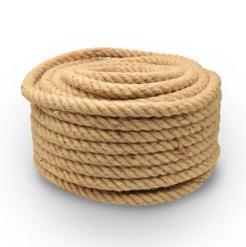 БЪЛГАРСКИ КАБЕЛ - Текстилен кабел въже конопено 28мм  2x0.75