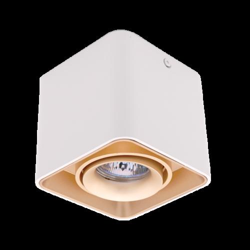 ELMARK - DL-044 Лунa за външен монтаж бяла/злато квадратна 92DL044S1/GDWH