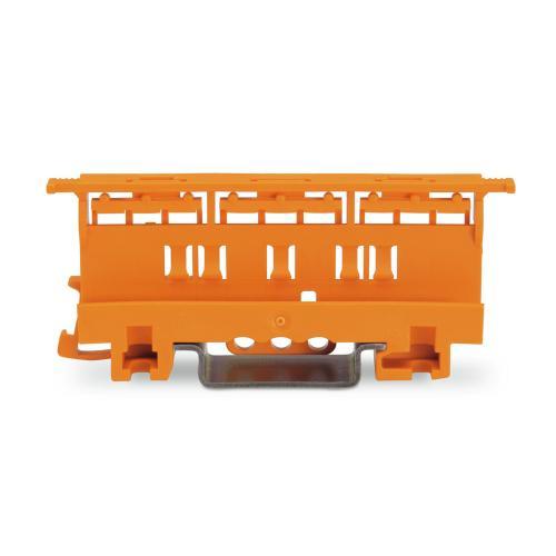 WAGO - Държач за монтаж на клеми серия 221 - 4мм2 към DIN шина оранжев 221-500