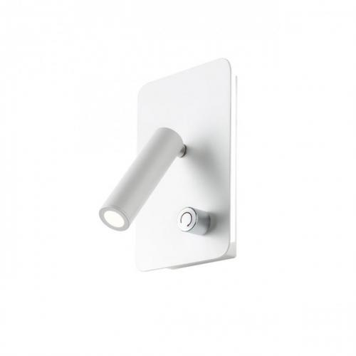 REDO GROUP - Аплик  QUDA  01-1493 SQ LONG LED 1x6W+1x3W 3000K WHITE