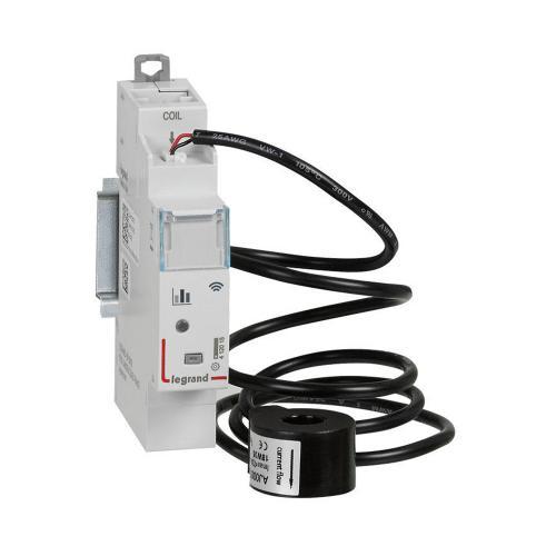 LEGRAND - Измервателен модул 230V Модулен ДИН електромер свързан 1 мод. + измервателен трансформатор  Netatmo 412015