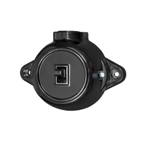 ATRA - Kлюч лихт бутон 10A открит монтаж IP21 черен 5224