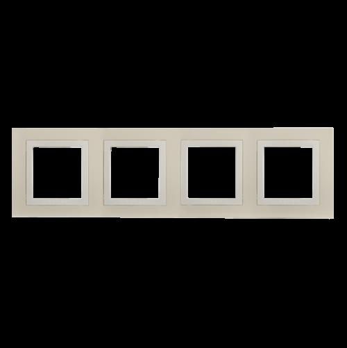 SCHNEIDER ELECTRIC - MGU2.008.559 декоративна рамка Unica Basic четворна крем