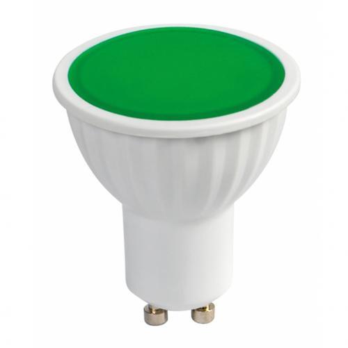 ULTRALUX - L510G LED луничка 5W, GU10, 220V-240V AC, зелена светлина, SMD2835