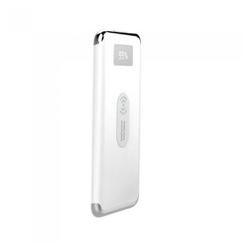 V-TAC - Външна батерия 10000 mA/h, дисплей, безжично зареждане, бял SKU: 8854 VT-3505