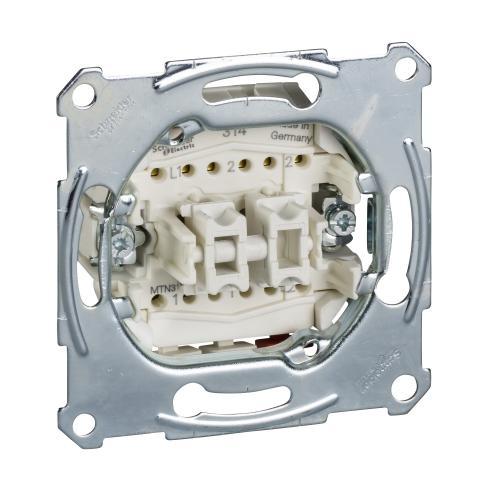 SCHNEIDER ELECTRIC - MTN3159-0000 Двоен девиаторен бутон 10А Merten