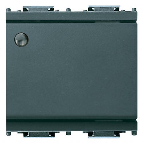 VIMAR - 16021.M Ключ обикновен с място за лампа 2 модула 16А сив IDEA