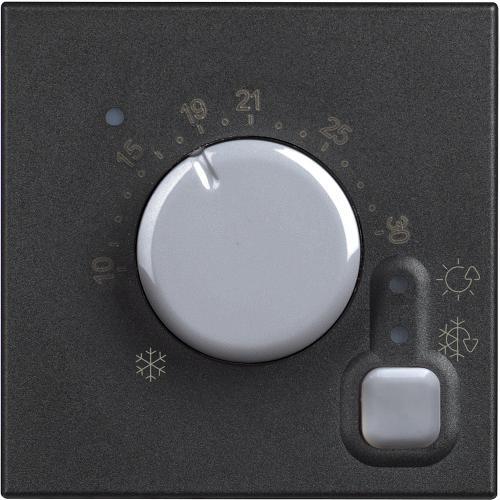 BTICINO - RG4441 Електронен стаен термостат 2модула Classia черен