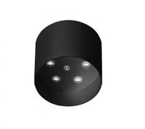 IDEAL LUX - Розетка за таван  ROSONE METALLO 5 LUCI ROUND Nero 138114