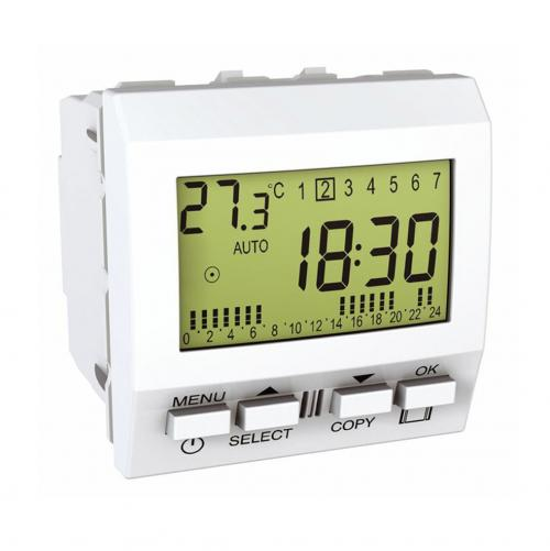SCHNEIDER ELECTRIC - MGU3.541.18 Unica - weekly-programmable timer - 230V AC - 2 m - white