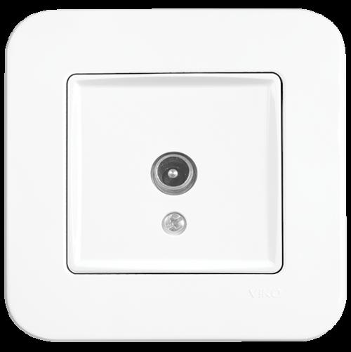 VIKO - TV Socket, Terminated 90420060 white Rollina
