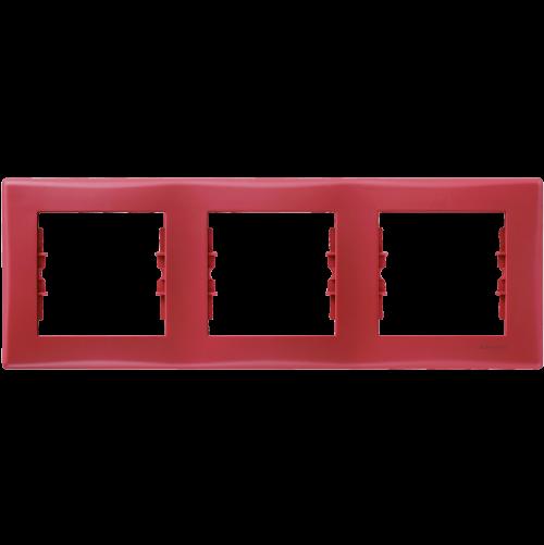SCHNEIDER ELECTRIC - SDN5800541 декоративна рамка Sedna тройна червена
