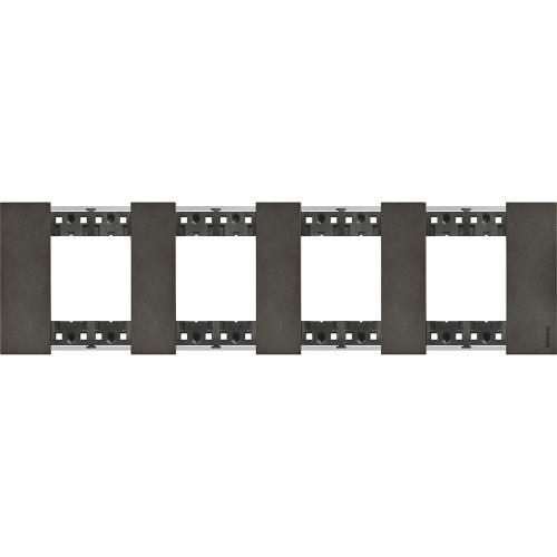 BTICINO - Рамка 4x2 мод. немски стандарт цвят Космос Living Now Bticino KA4802M4NG
