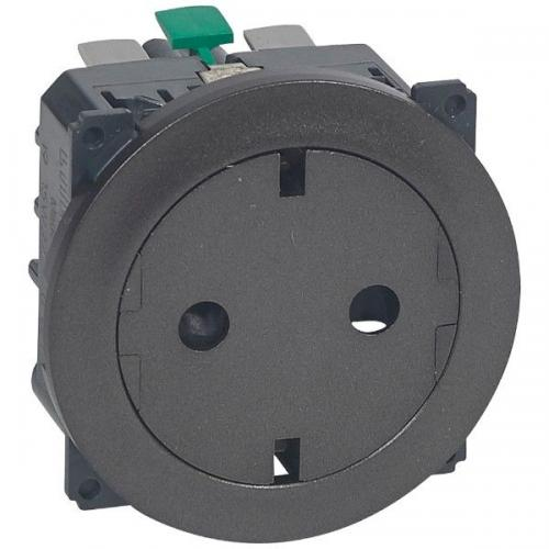 LEGRAND - Плосък контакт механизъм и плочка с автоматични клеми Celiane 67168 графит