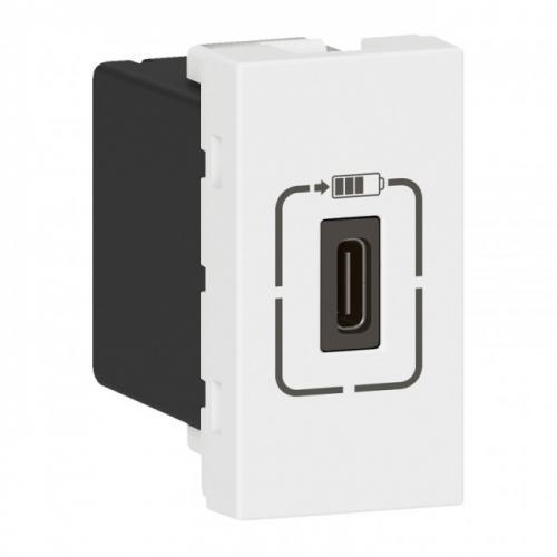 LEGRAND - 77589  Розетка USB за зареждане тип C 5V 1.5A 7.5W 1 мод. цвят бял Mosaic