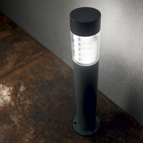 IDEAL LUX - Градински стълб  DEMA PT1 H40 NERO 248240 R7s max 1 x 60W, IP54
