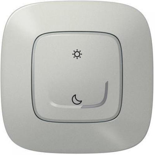 LEGRAND - Сценариен ключ БЕЗжичен събуждане/заспиване Smart Valena Allure Алуминий с рамка Legrand Netatmo 752789