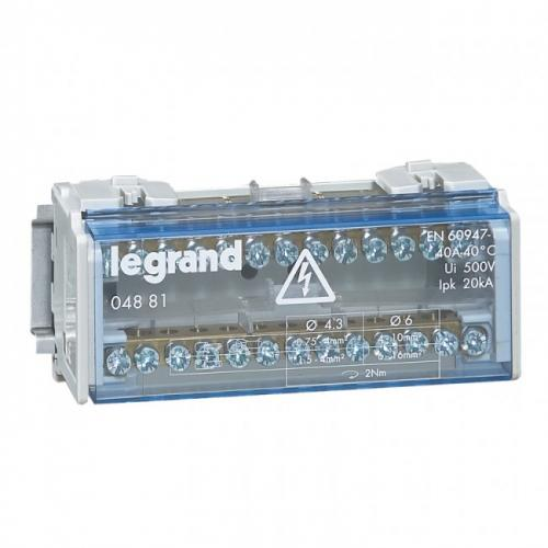 LEGRAND - Разпределителен клемен блок 40А 2P 4881