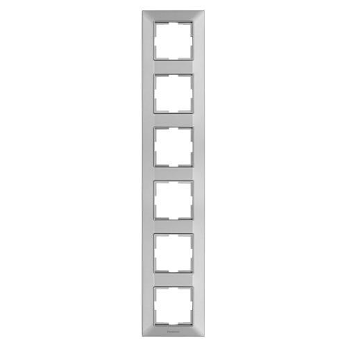 PANASONIC - Рамка шесторна вертикална сиво PANASONIC Arkedia slim WNTF0816-2SL