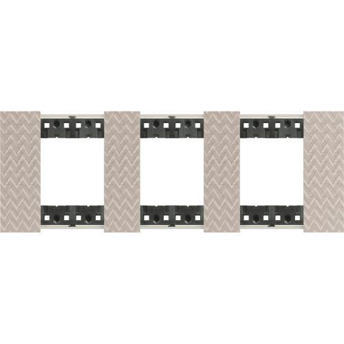 BTICINO - Рамка 3x2 мод. немски стандарт цвят Илюзия Living Now Bticino KA4802M3MM