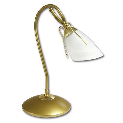 LIS LIGHTING - Нощна лампа RONDO 0235B-H34 E14, 1x40W, H38, D20cm, месинг
