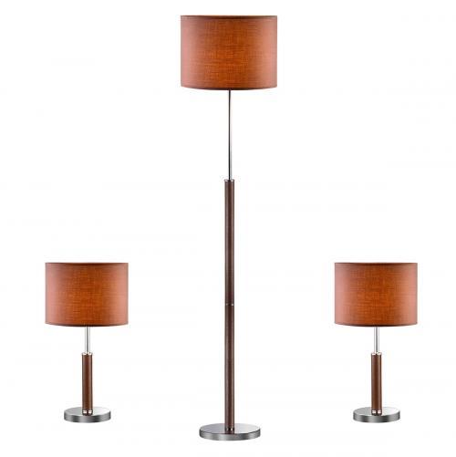 ITALUX - Комплект 2бр.Настолна лампа+лампион Barnett 97031-3BR KOMPLET