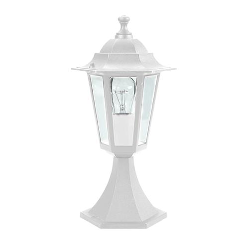 ACA LIGHTING - Градински фенер стоящ бял влагозащитен IP44 PLGQ3W
